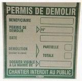 PLATE PERMIT TO DEMOLISH REF: SPPD