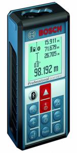 Télémètre laser Bosch GLM 100 C Professional  avec Bluetooth et prise micro-USB - 3,7 V - IP 54