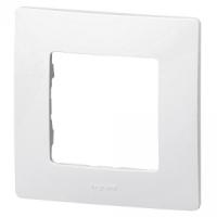 Niloé plaque 1 poste Blanc/Creme/Rouge