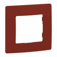 Plaque Niloé rouge 1 poste