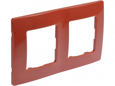 Niloé plaque double Rouge/Taupe