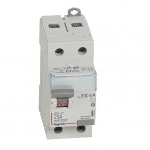 Interrupteur différentiel DX³-ID arrivée haute et départ bas à vis - 2P 230V~  type AC 300mA - 2 modules