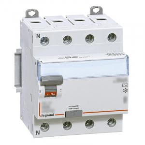 Interrupteur différentiel DX³-ID arrivée haute et départ bas à vis - 4P 400V~  typeAC  - 4 modules