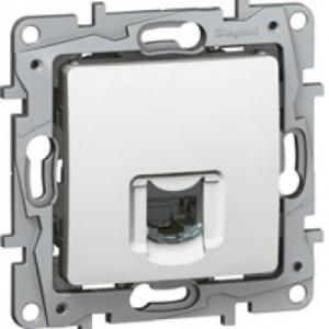 Prise réseau intranet RJ45 Cat.6 UTP Niloé - 9 contacts - blanc