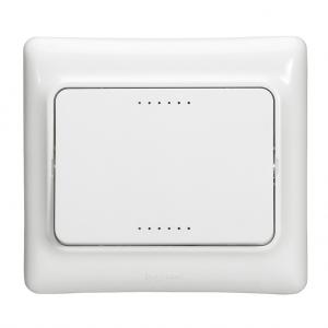 Interrupteur unidirectionnel d'éclairage  allumage  simple Kaptika - montage encastré - 10 AX 250 V ~ - blanc