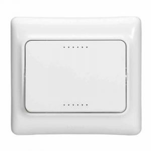 Interrupteur de contact/éclairage-poussoir Kaptika - 6 A 250 V ~ - blanc