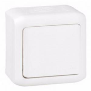 Interrupteur d'eclairage Forix   allumage simple va-et-vient, 10 AX   250 V ~  IP44  étanche Montage en saillie