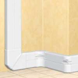 Goulotte 2 compartiments DLP monobloc - 50x150mm - blanc
