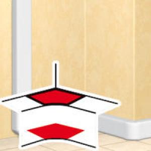 Angle intérieur pour goulottes DLP monobloc 50x80mm , 50x105mm , 50x150mm ou 50x195mm - blanc