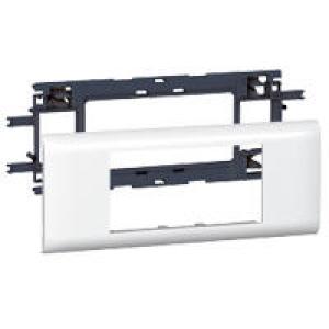 Support Mosaic 2, 4 ou 6 modules pour goulotte DLP monobloc avec couvercle 65mm