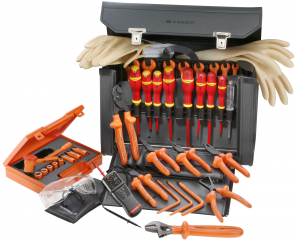 SELECTION OF 32 INSULATED TOOLS 1000 VOLTS FACOM ref: 2187.VSE