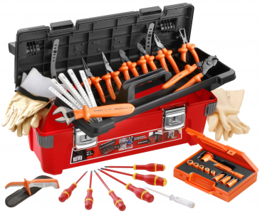 SELECTION OF 19 INSULATED TOOLS 1000 VOLTS FACOM ref: 2185C.VSE