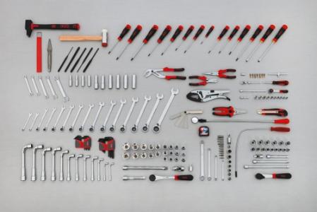 Composition de 182 outils pour le mécanicien automobile. Ref : CP-182