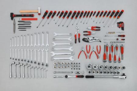 Composition de 166 outils pour le mécanicien poids lourd. Ref : CP-166