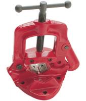 Etau à tube avec vis à filet trapézoïdal et vé de soutien. Etau Etaugriff n°0 200200